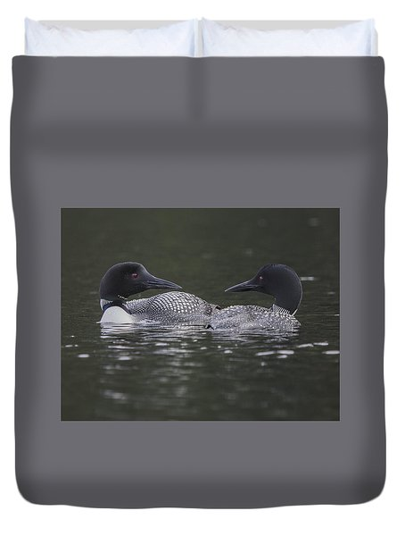 Loon Pair Duvet Cover