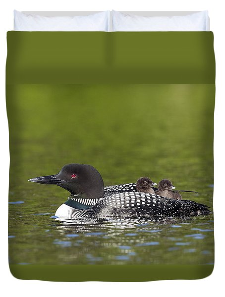Loon Taxi Duvet Cover