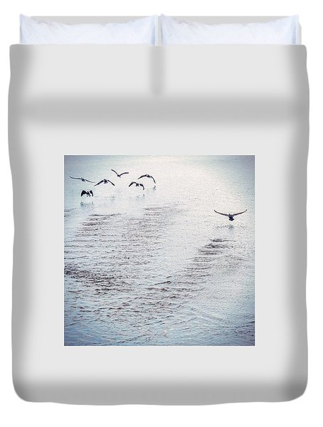 Duvet Cover featuring the photograph Looner Liftoff by Kendall McKernon