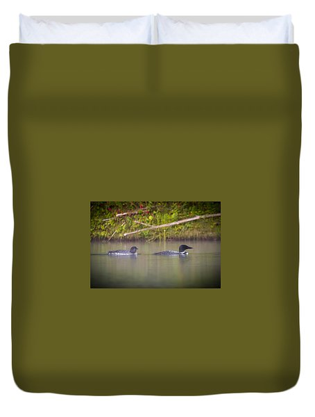 Loons 1 Duvet Cover