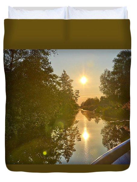 Loosdrecht Boat Trip Duvet Cover