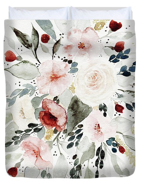 Loose Florals Duvet Cover
