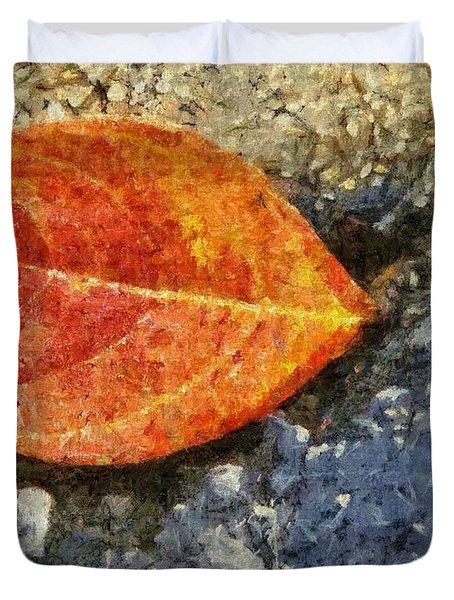 Loose Leaf Duvet Cover by Jeff Kolker