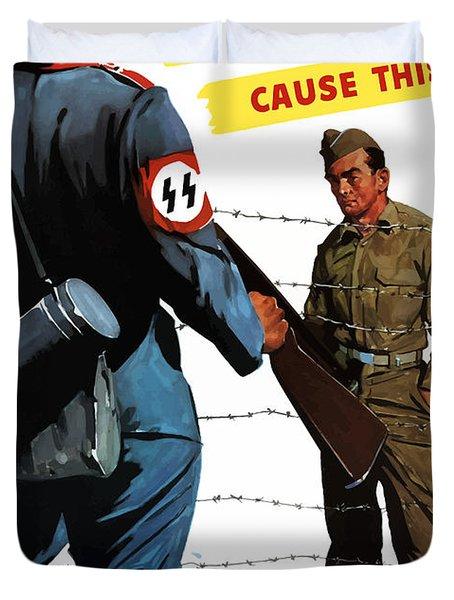 Loose Talk Can Cause -- Ww2 Propaganda Duvet Cover