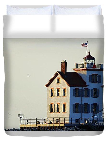 Lorain Lighthouse 2015 Duvet Cover