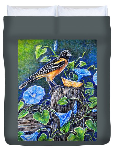 Lord Baltimore's Breakfast Duvet Cover by Gail Butler