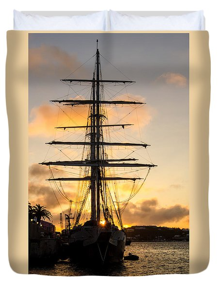 Lord Nelson Sunrise Duvet Cover by Jeff at JSJ Photography