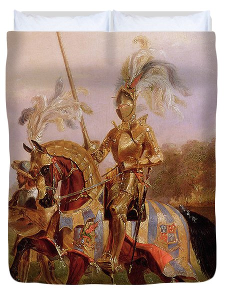 Lord Of The Tournament Duvet Cover by Edward Henry Corbould