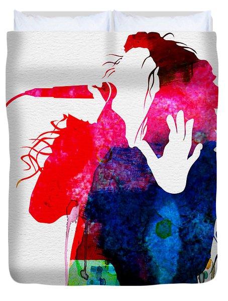 Lorde Watercolor Duvet Cover
