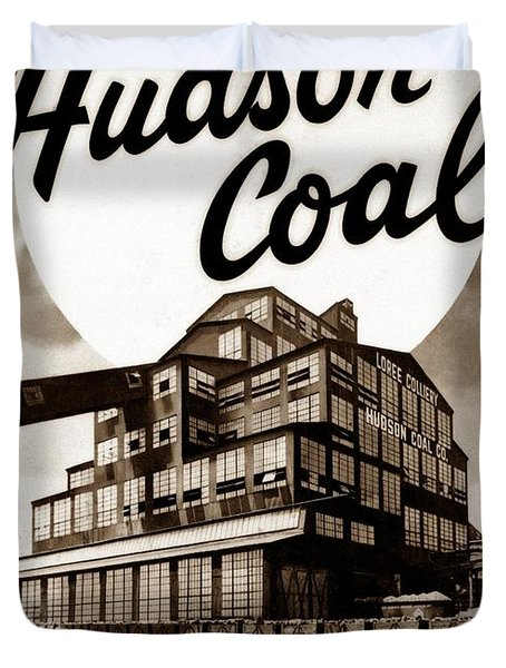 Loree Colliery Larksville Pa. Hudson Coal Co  Duvet Cover