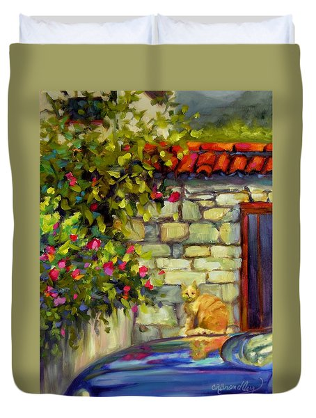 Duvet Cover featuring the painting Lorenzo by Chris Brandley