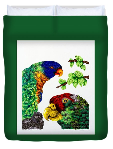 Lorikeets Duvet Cover