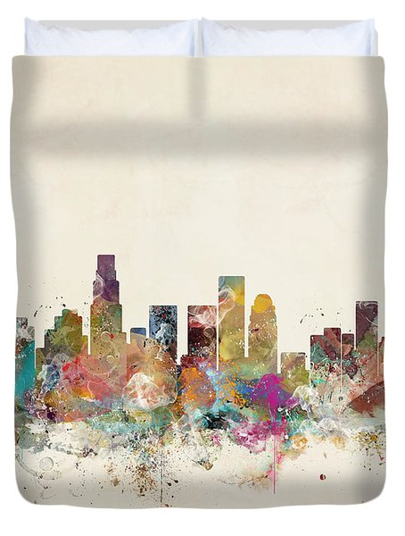 Los Angeles California Duvet Cover