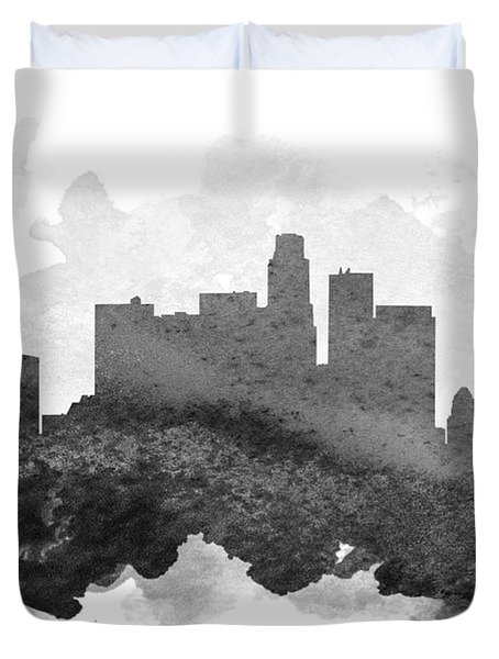 Los Angeles Cityscape 11 Duvet Cover by Aged Pixel