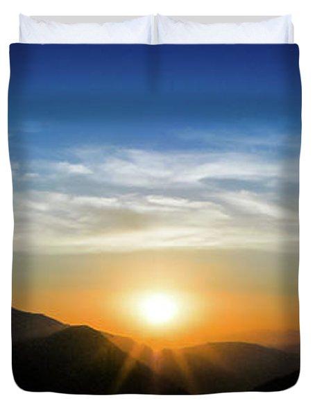 Los Angeles Desert Mountain Sunset Duvet Cover
