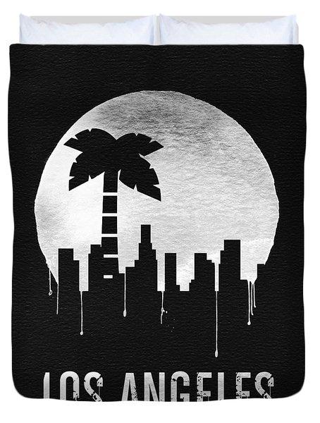 Los Angeles Landmark Black Duvet Cover
