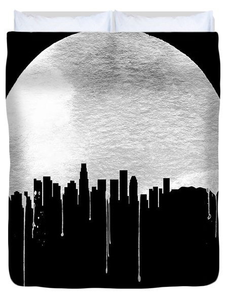 Los Angeles Skyline Black Duvet Cover