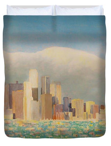 Los Angeles Sunset Duvet Cover
