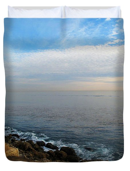 Duvet Cover featuring the photograph Los Angeles Sunset by Joan  Minchak