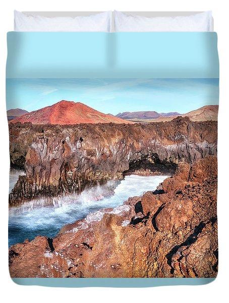 Los Hervideros - Lanzarote Duvet Cover