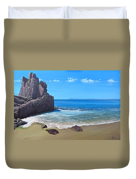 Los Muertos Beach Duvet Cover