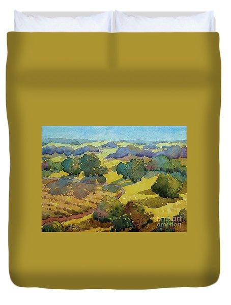 Los Olivos Impression Duvet Cover