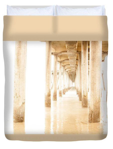 Duvet Cover featuring the photograph Lose Yourself At The Pier by Ruth Jolly