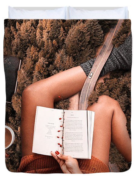Lose Yourself In A Good Book Duvet Cover