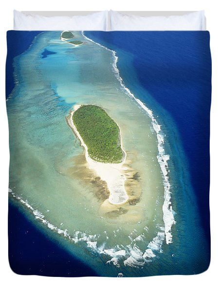 Losiep Atoll Duvet Cover by Mitch Warner - Printscapes