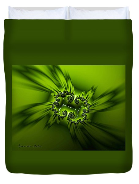 Duvet Cover featuring the digital art Losing Myself  by Riana Van Staden