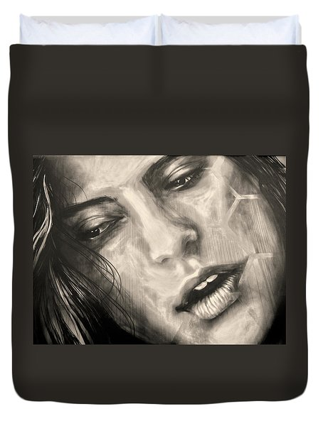 Duvet Cover featuring the photograph Losing Sleep ... by Juergen Weiss