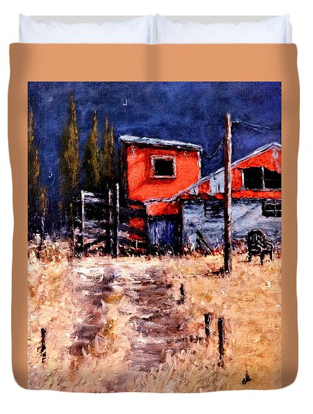 Duvet Cover featuring the painting Lost And Found Memories.. by Cristina Mihailescu