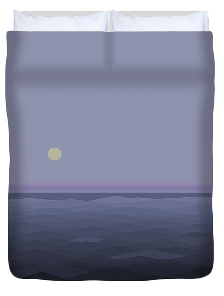 Duvet Cover featuring the digital art Lost At Sea - Square by Val Arie