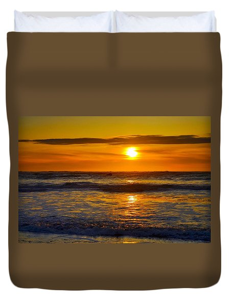 Lost Coast Sunset Duvet Cover