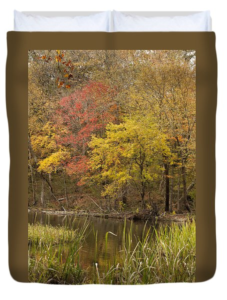 Lost Creek Autumn Duvet Cover