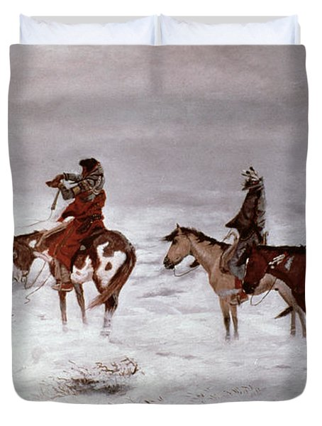 'lost In A Snow Storm - We Are Friends' Duvet Cover