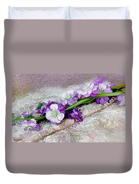 Duvet Cover featuring the photograph Lost In Lace by Bonnie Willis