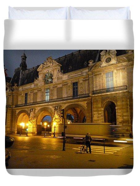 Lost In Paris Duvet Cover