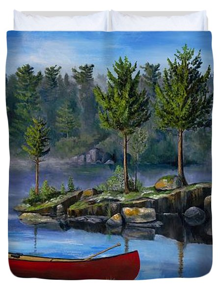 Lost In The Boundary Waters Duvet Cover