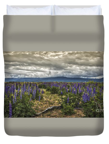 Lost In The Lupine Duvet Cover by Mitch Shindelbower