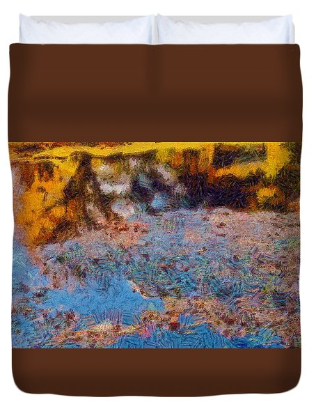 Lost In The Pond Duvet Cover