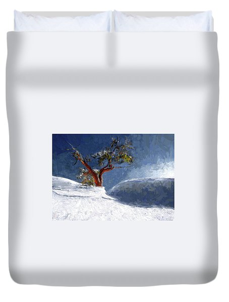 Lost In The Snow Duvet Cover by Alex Galkin