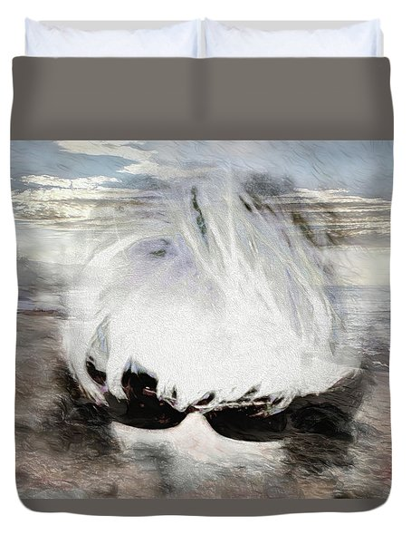 Duvet Cover featuring the photograph Lost In Thought by Pennie  McCracken
