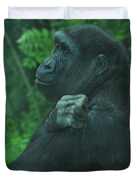 Duvet Cover featuring the photograph Lost In Thought by Richard Bryce and Family