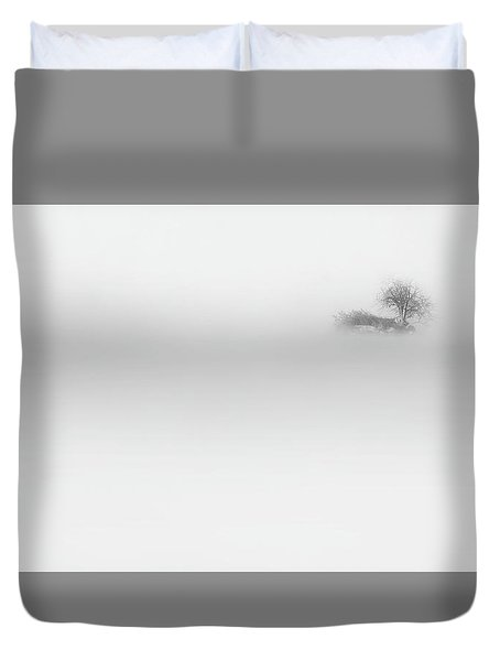 Duvet Cover featuring the photograph Lost Island by Bill Wakeley