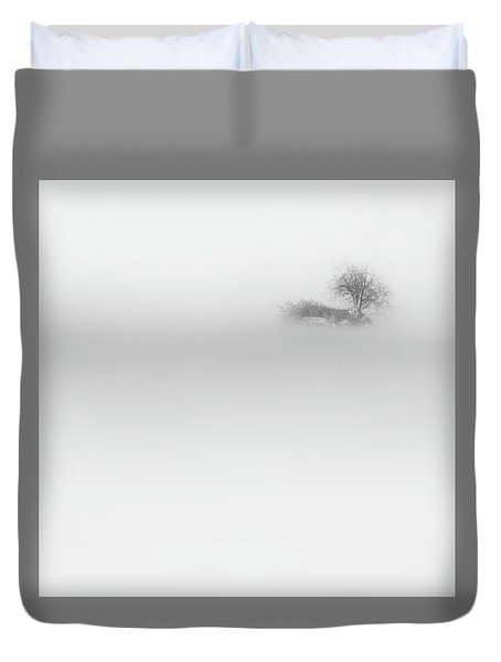Duvet Cover featuring the photograph Lost Island Square by Bill Wakeley