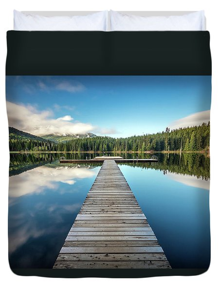 Lost Lake Dream Whistler Duvet Cover