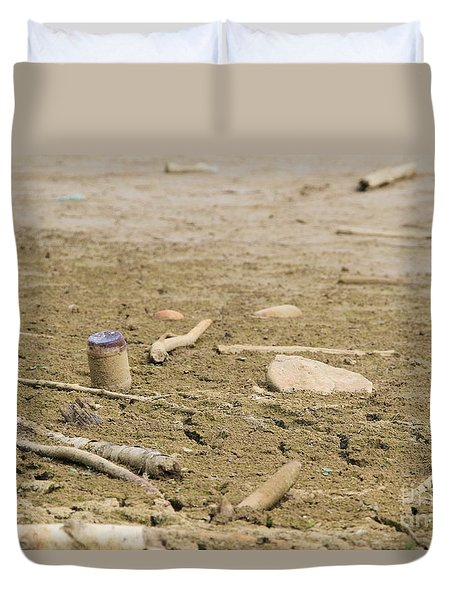 Lost Message In A Bottle Duvet Cover