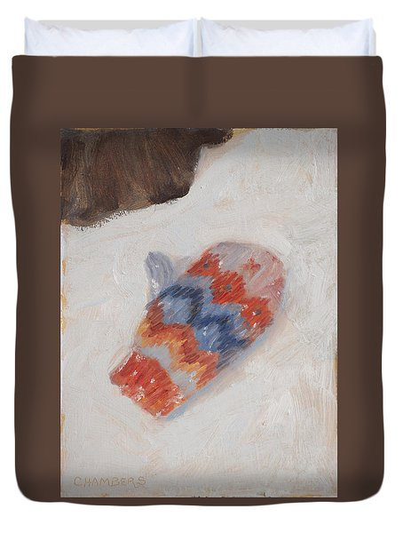 Lost Mitten One Duvet Cover by Timothy Chambers