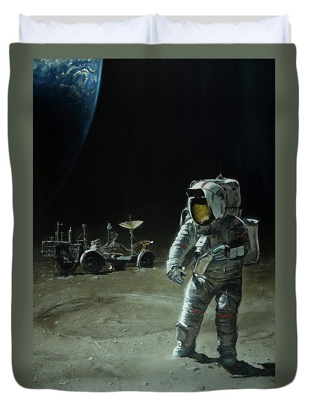 Lost Moon Duvet Cover by Simon Kregar